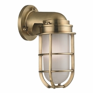Hudson Valley 240-AGB Carson Vintage Aged Brass Finish 5  Wide Light Sconce