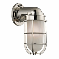 Hudson Valley 240-PN Carson Vintage Polished Nickel Finish 5  Wide Wall Light Fixture