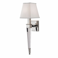 Hudson Valley 2401-PN Ruskin Polished Nickel Sconce Lighting