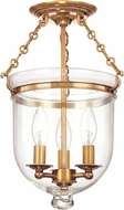 Hudson Valley 251-AGB-C1 Hampton Aged Brass Ceiling Light