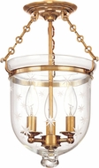 Hudson Valley 251-AGB-C3 Hampton Aged Brass Ceiling Lighting Fixture