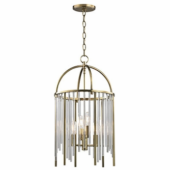 Hudson Valley 2512-AGB Lewis Aged Brass Foyer Lighting