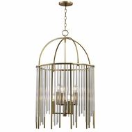 Hudson Valley 2520-AGB Lewis Aged Brass Foyer Lighting Fixture