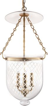 Hudson Valley 254-AGB-C2 Hampton Aged Brass 12 Entryway Light Fixture
