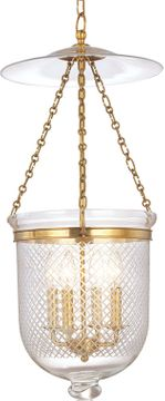 Hudson Valley 255-AGB-C2 Hampton Aged Brass 14.5 Entryway Light Fixture