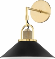 Hudson Valley 2601-AGB/BK Syosset Contemporary Aged Brass / Black Wall Mounted Lamp