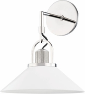 Hudson Valley 2601-PN/WH Syosset Modern Polished Nickel / White Wall Light Sconce