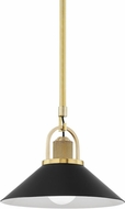Hudson Valley 2613-AGB/BK Syosset Contemporary Aged Brass / Black 12 Hanging Lamp