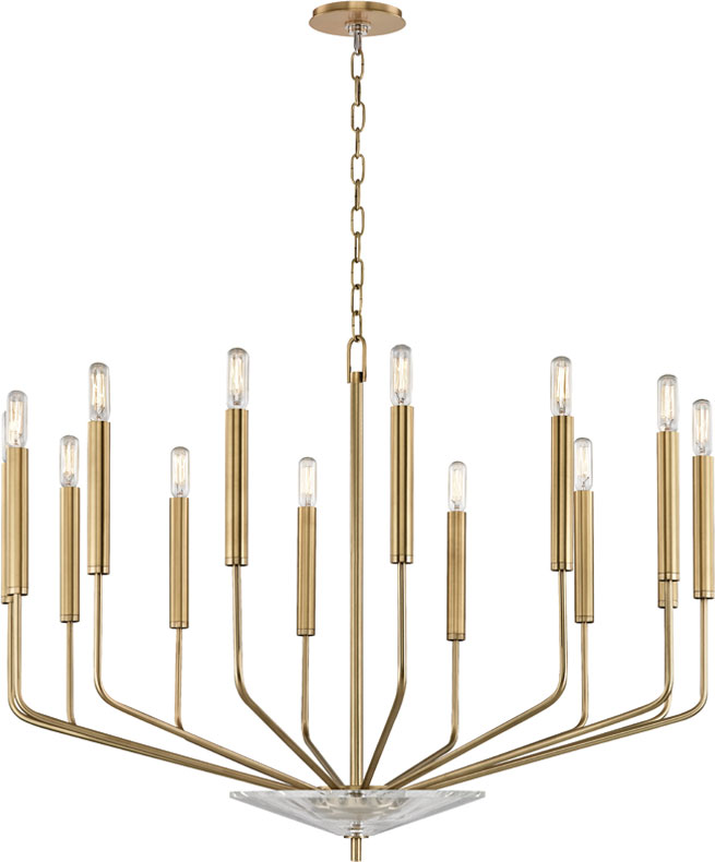 official photos c2ccb d4357 Hudson Valley 2614-AGB Gideon Contemporary Aged Brass Chandelier Light