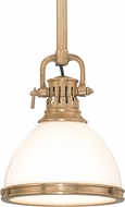Hudson Valley 2623-AGB Randolph Vintage Aged Brass Drop Ceiling Light Fixture