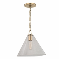 Hudson Valley 2711-AGB Sanderson Aged Brass Mini Drop Lighting