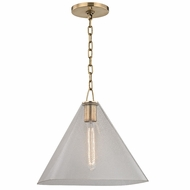 Hudson Valley 2714-AGB Sanderson Aged Brass Ceiling Light Pendant