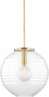 Hudson Valley 2717-AGB Bay Ridge Contemporary Aged Brass Hanging Light Fixture
