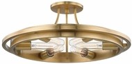 Hudson Valley 2721-AGB Chambers Contemporary Aged Brass Ceiling Lighting