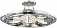 Hudson Valley 2721-PN Chambers Contemporary Polished Nickel Ceiling Light Fixture