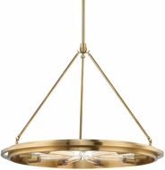 Hudson Valley 2732-AGB Chambers Modern Aged Brass 32  Chandelier Light
