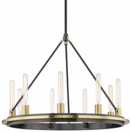 Hudson Valley 2732-AOB Chambers Contemporary Aged Old Bronze 32  Chandelier Lighting