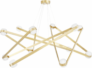 Hudson Valley 2756-AGB Orbit Contemporary Aged Brass LED Chandelier Lighting