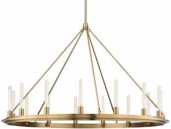 Hudson Valley 2758-AGB Chambers Modern Aged Brass 58 Hanging Chandelier