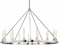 Hudson Valley 2758-PN Chambers Modern Polished Nickel 58  Chandelier Lighting