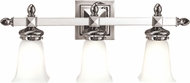 Hudson Valley 2823-PN Cumberland Contemporary Polished Nickel 3-Light Bathroom Wall Sconce