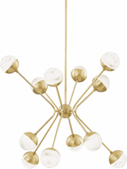 Hudson Valley 2836-AGB Saratoga Contemporary Aged Brass LED Hanging Chandelier