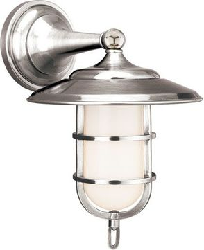 Hudson Valley 2901-PN Rockford Nautical Polished Nickel Indoor / Outdoor Lamp Sconce