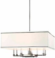 Hudson Valley 2924-PN Collins Contemporary Polished Nickel Lighting Pendant