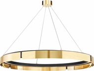 Hudson Valley 2949-AGB/BK Tribeca Contemporary Aged Brass / Black LED 49 Drop Ceiling Light Fixture