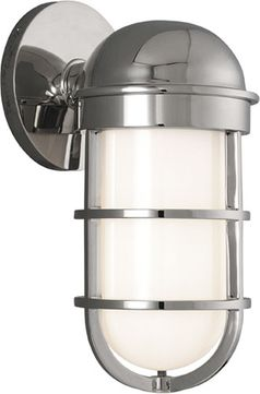 Hudson Valley 3001-PN Groton Nautical Polished Nickel Indoor / Outdoor Wall Sconce Light
