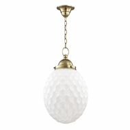 Hudson Valley 3012-AGB Columbia Aged Brass Mini Pendant Light