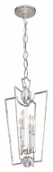 Hudson Valley 3013-PN Waterloo 25 Inch Tall Modern Polished Nickel 4 Lamp Hanging Pendant