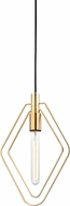 Hudson Valley 3040-AGB Masonville Modern Aged Brass Mini Pendant Light Fixture