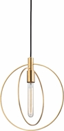 Hudson Valley 3050-AGB Masonville Contemporary Aged Brass Mini Hanging Pendant Light