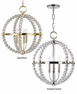 Hudson Valley 3120 Danville Small 3 Lamp Crystal Hanging Ball Light Fixture