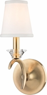 Hudson Valley 3191-AGB Marcellus Aged Brass Wall Sconce Light
