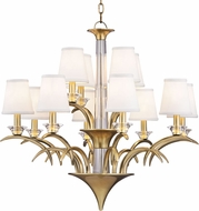Hudson Valley 3199-AGB Marcellus Aged Brass Hanging Chandelier