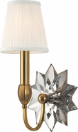 Hudson Valley 3211-AGB Barton Aged Brass Wall Light Sconce