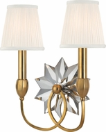 Hudson Valley 3212-AGB Barton Aged Brass Wall Sconce