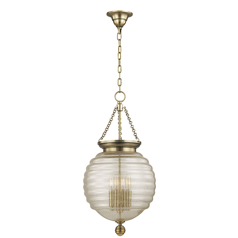 Hudson Valley 3214-AGB Coolidge Aged Brass Hanging Light Fixture ...