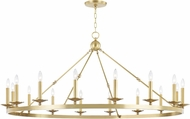 Hudson Valley 3216-AGB Allendale Contemporary Aged Brass Chandelier Light