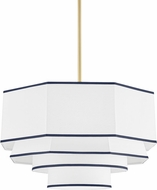 Hudson Valley 3226-AGB Riverdale Contemporary Aged Brass Pendant Lighting