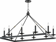 Hudson Valley 3244-AOB Allendale Contemporary Aged Old Bronze Kitchen Island Light Fixture