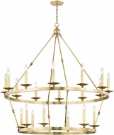 Hudson Valley 3247-AGB Allendale Contemporary Aged Brass Chandelier Lamp