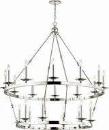 Hudson Valley 3247-PN Allendale Contemporary Polished Nickel Ceiling Chandelier