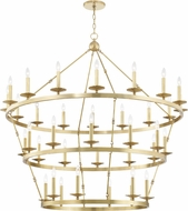 Hudson Valley 3258-AGB Allendale Contemporary Aged Brass Hanging Chandelier
