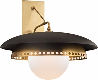Hudson Valley 3300-AGB Herikimer Aged Brass Wall Lamp