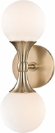 Hudson Valley 3302-AGB Astoria Contemporary Aged Brass LED Wall Sconce Lighting