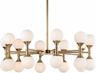 Hudson Valley 3320-AGB Astoria Contemporary Aged Brass LED Chandelier Lighting
