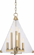 Hudson Valley 3336-AGB Triad Contemporary Aged Brass 18  Foyer Lighting Fixture